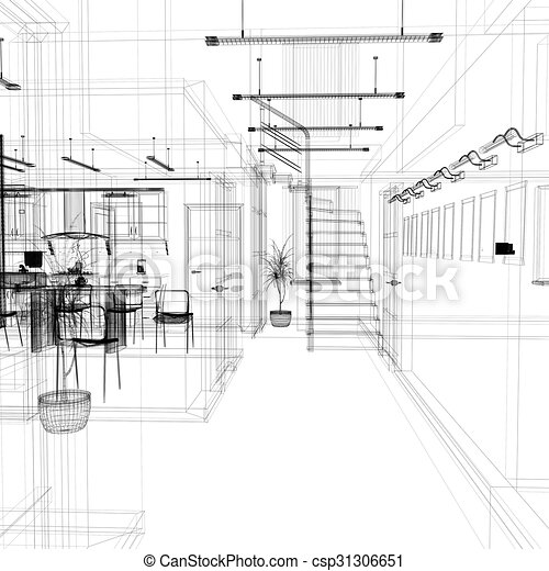 Corridor in modern office - csp31306651
