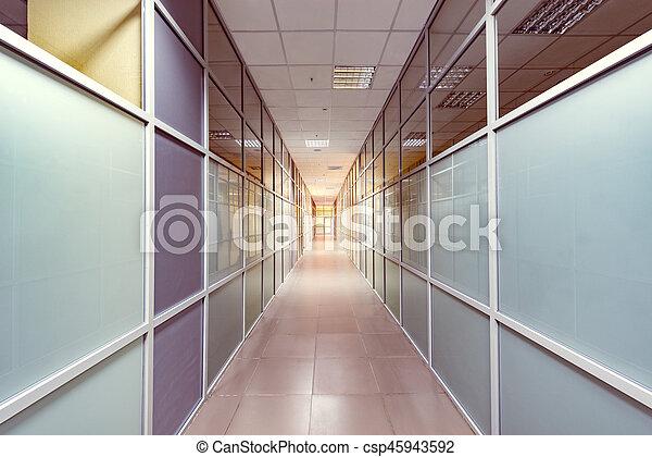 corridor., vue - csp45943592