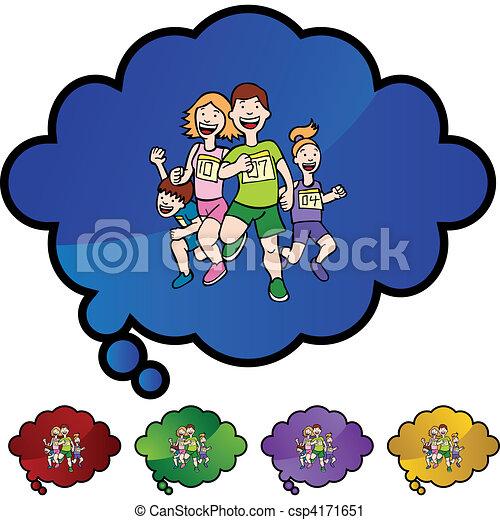 Familia corriendo - csp4171651
