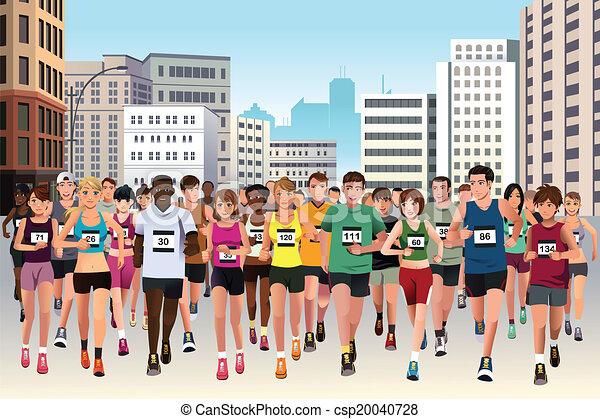 Gente corriendo maratón - csp20040728