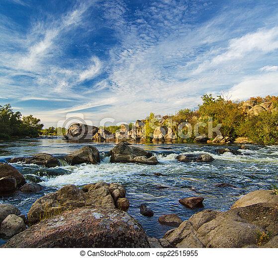 Un arroyo de montaña - csp22515955