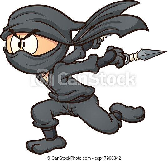 ninja corriendo - csp17906342