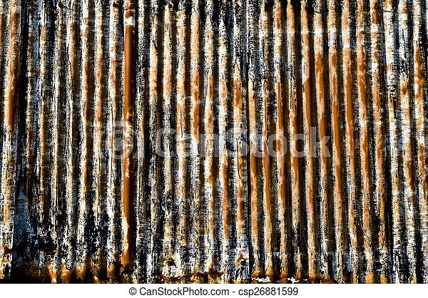 corrugated iron - csp26881599