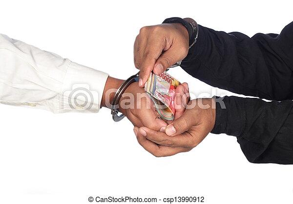 Corrupted businessman - csp13990912