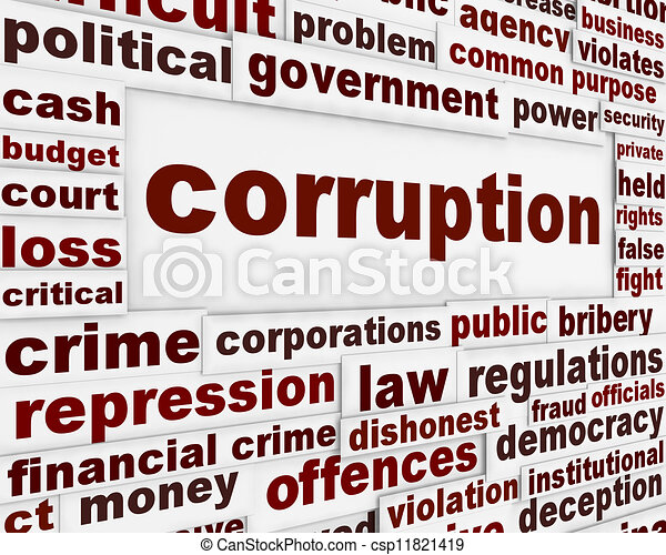 corruption political poster financial bribery warning clipart  corruption political poster stock illustration