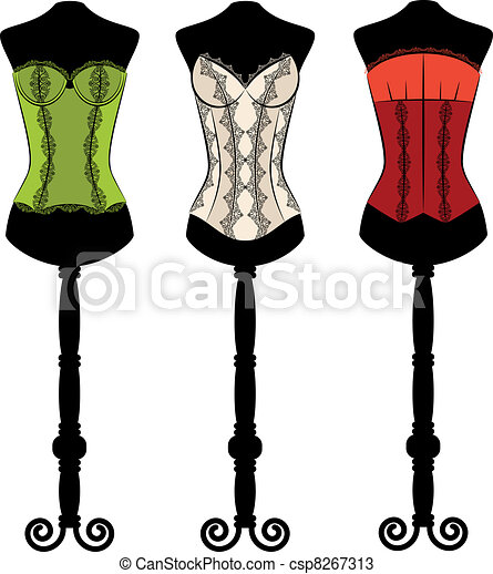 corsets with  ornament - csp8267313
