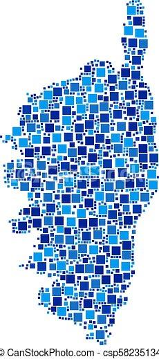 Corsica France Island Map Composition Of Pixels Corsica France