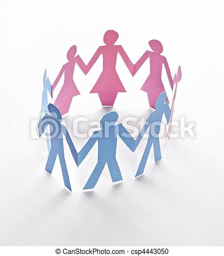 Cortar a la gente del papel - csp4443050