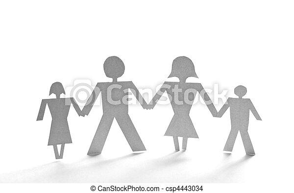 Cortar a la gente del papel - csp4443034