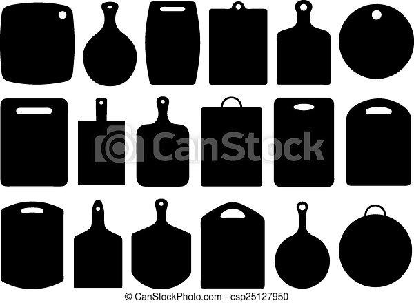 corte, jogo, placas, cozinha - csp25127950