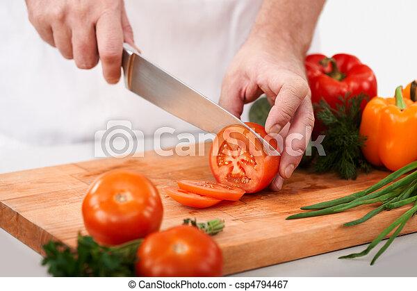 corte, tomates - csp4794467