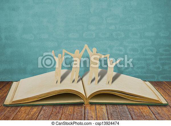 corte, viejo, familia , símbolo, papel, libro - csp13924474