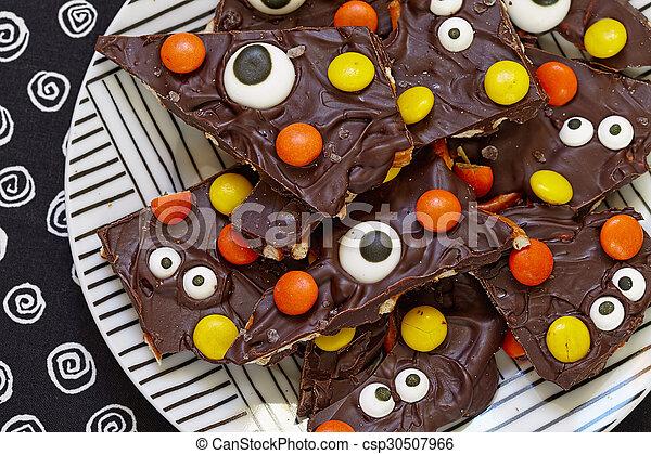 corteccia, halloween, salato, mostro - csp30507966