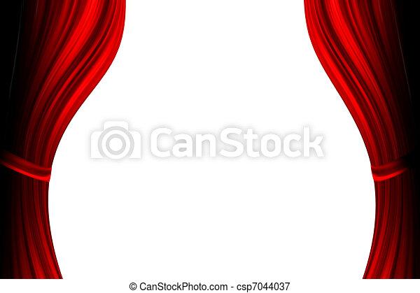 cortina, teatro, vermelho - csp7044037