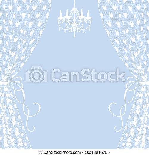 cortinas, lustre - csp13916705