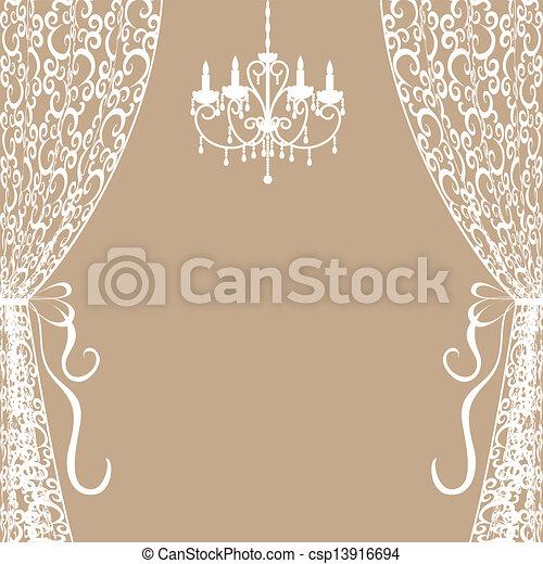cortinas, lustre - csp13916694