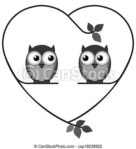 coruja, amantes - csp18038922