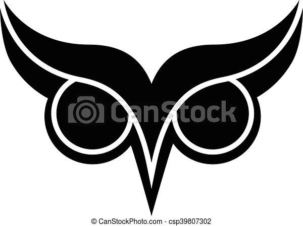 coruja olhos olho grande logotipo pássaro sobrancelhas coruja