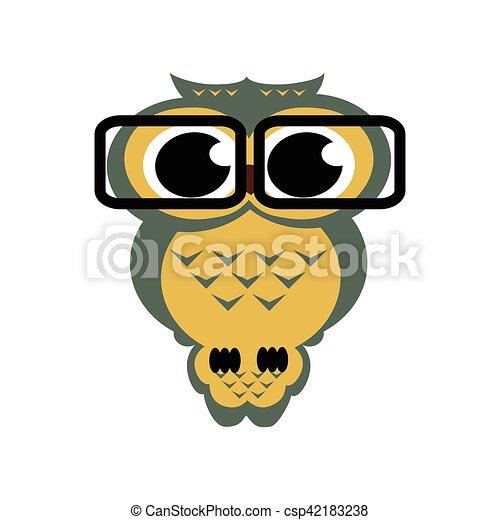 Coruja Vetorial Isolado Fundo Oculos Coruja Illustration