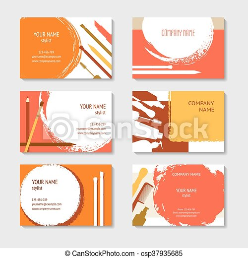 Cosmetic and beauty business cards set cosmetic and makeup business cosmetic and beauty business cards set csp37935685 colourmoves