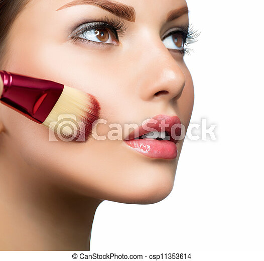Cosmetic. Base for Perfect Make-up. Applying Make-up - csp11353614
