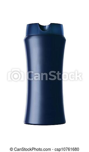 cosmetic bottle isolated on white background - csp10761680