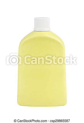 cosmetic bottle isolated on white background - csp29865587