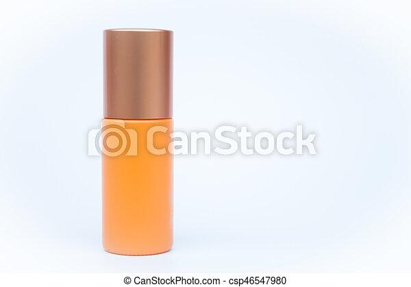 Cosmetic bottle isolated on white background - csp46547980