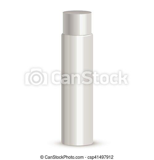 Cosmetic packaging, plastic tube. Vector. - csp41497912