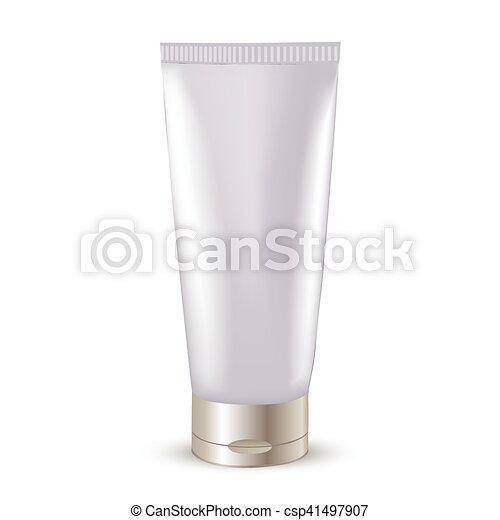 Cosmetic packaging, plastic tube. Vector. - csp41497907