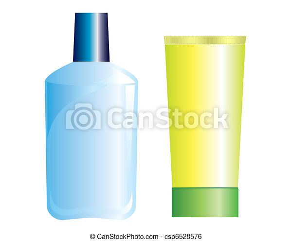 Cosmetic products .Vector collection on white for make up - csp6528576