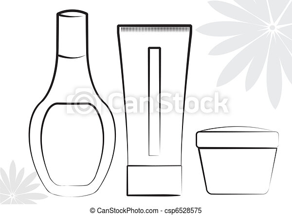Cosmetic products .Vector collection on white for make up - csp6528575