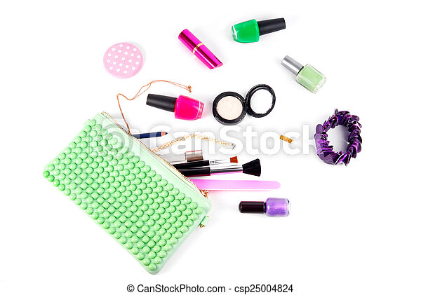 cosmetic set isolated on white - csp25004824