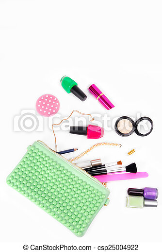 cosmetic set isolated on white - csp25004922