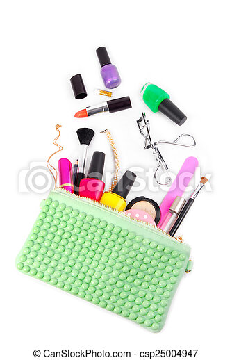 cosmetic set isolated on white - csp25004947