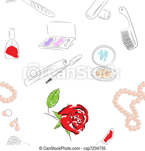 cosmetics products. seamless pattern - csp7234735