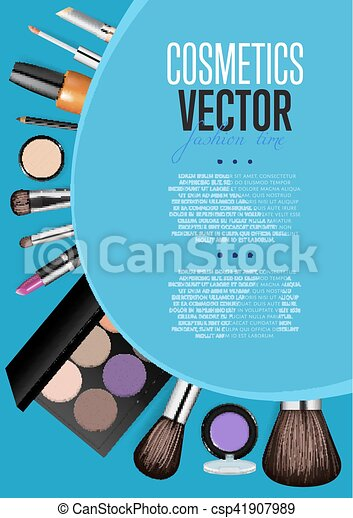 cosmetics promo booklet title page vector template cosmetic product