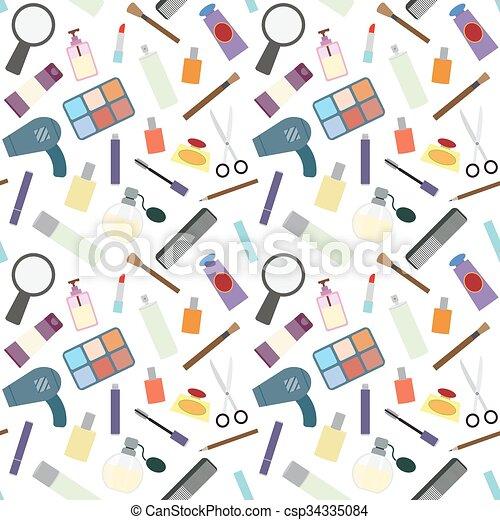 Cosmetics seamless pattern. - csp34335084