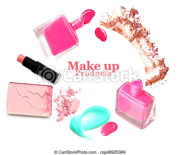 Cosmetics set isolated on white - csp49925369