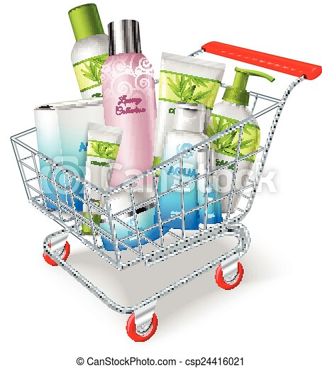 Cosmetics Shopping Cart - csp24416021