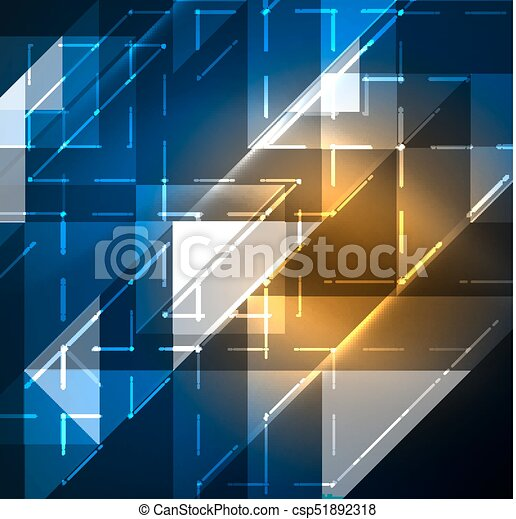 Cosmic electric background with shiny glowing plexus electricity impulses - csp51892318