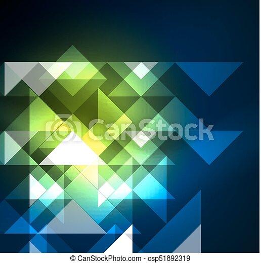 Cosmic electric background with shiny glowing plexus electricity impulses - csp51892319