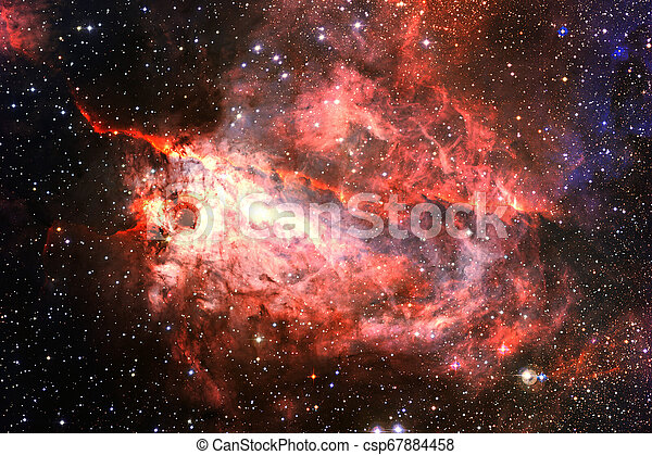 Cosmic landscape, awesome science fiction wallpaper. - csp67884458