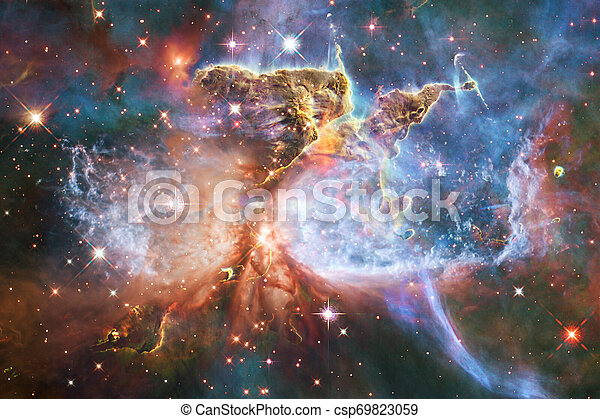 Cosmic landscape, awesome science fiction wallpaper. - csp69823059