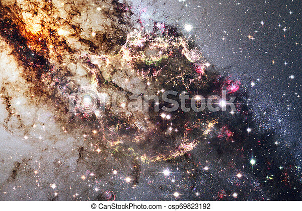 Cosmic landscape, awesome science fiction wallpaper. - csp69823192