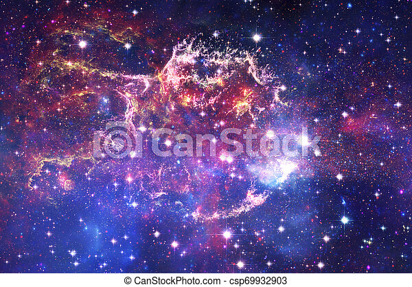 Cosmic landscape, awesome science fiction wallpaper. - csp69932903