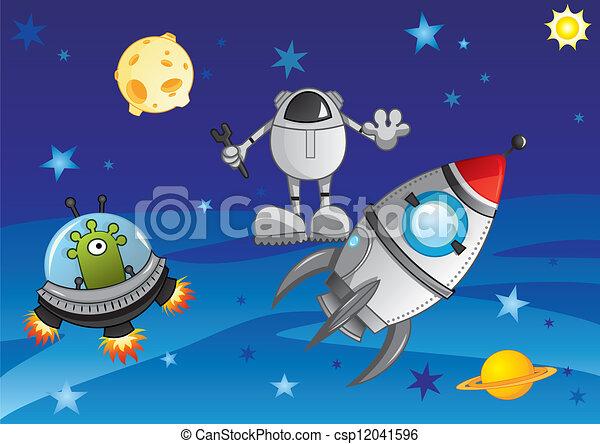 Aventura en el cosmos - csp12041596