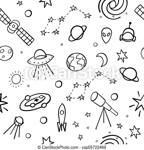 Art sketch space galaxy drawing dotwork tattoo ...  |Astronomy Line Drawing