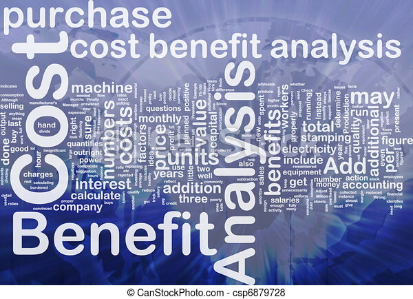 Cost benefit analysis background concept - csp6879728