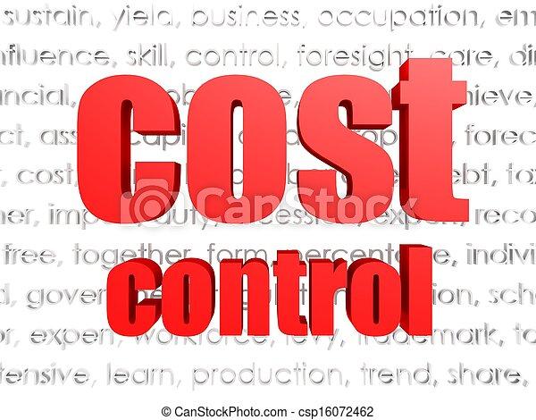Cost control  - csp16072462